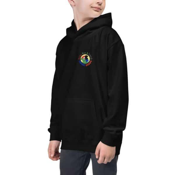 Kids wearing Black Hoodie