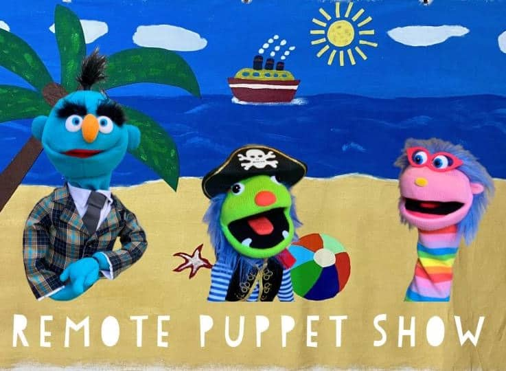 Virtual Puppet Shows via Zoom into your home